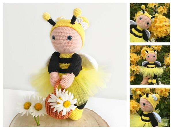 Honey Bee Kitchen Set Crochet Pattern– Maggie's Crochet | 450x600