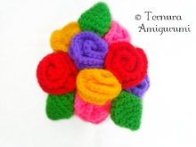 Crochet pattern flower pot with flowers pdf ternura amigurumi english- deutsch- dutch