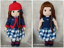 Häkelanleitung Amigurumi / Mia im Back To School Outfit / Puppe + Outfits
