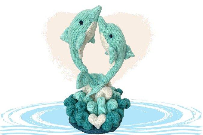 Dolphin Love Pattern Amigurumi PDF Deutsch - English - Dutch