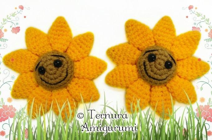 haakpatroon Zonnebloem pdf ternura amigurumi english- deutsch- dutch