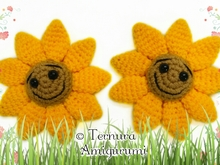 Sunflower crochet pattern pdf ternura amigurumi english- deutsch- dutch