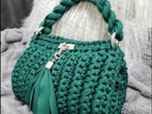 Crochet Green Bag