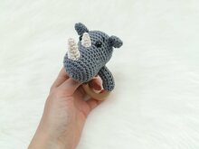 Rhino Rattle - Crochet Pattern