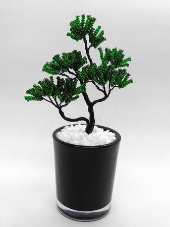 zen garden bonsai baum aus perlen und draht anleitung