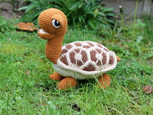 Hilda the heart turtle crochet pattern