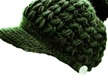 Crochet Hat With Brim