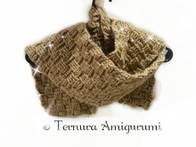 Crochet pattern scarf PDF ternura amigurumi english- deutsch- dutch