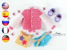 Crochet clothes for Doll Naomi Amigurumi Pattern