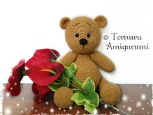 Crochet pattern LEO the bear teddy PDF ternura amigurumi english- deutsch- dutch
