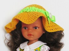 Doll hat crochet pattern