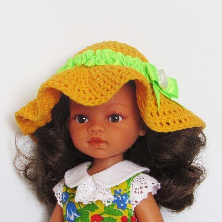 How to crochet doll lace dress / doll clothes - YouTube | 450x450