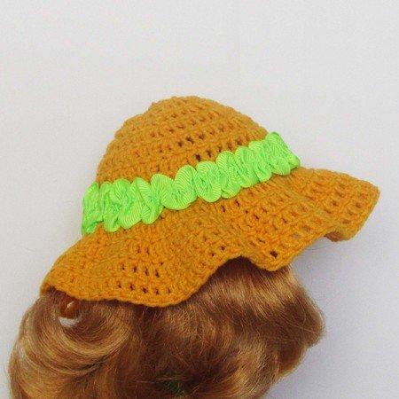 Crochet doll hat pattern Doll Leaf Beanie for Bitty Baby | Etsy | 450x450
