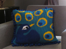 True Colours Peacock Cushion Knitting Pattern