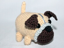 Milo the mini pug crochet pattern