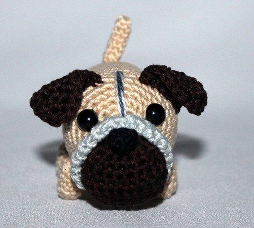 Perro Pug amigurumi tejido a crochet amigurumi Pug dog 1 - YouTube | 450x501