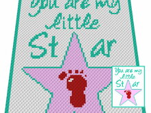 Häkelmuster * You are my little STAR * Grafik für C2C Decke