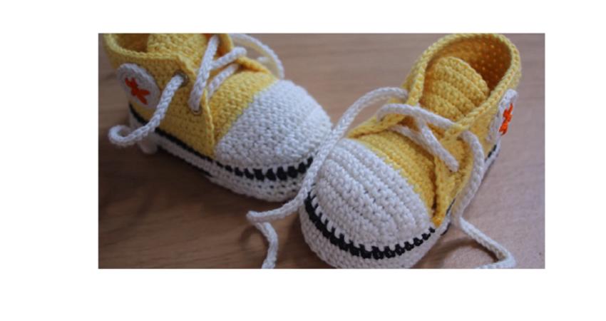 Häkeln Sie Baby Converse Muster