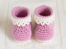 Crochet Pink Shoes