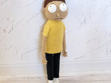 Morty - inspired crochet doll