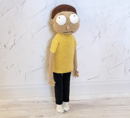 Ravelry: Morty Smith from Rick and Morty pattern by Tina L. crafts | 450x497