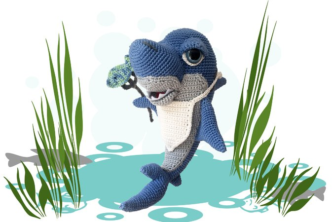 Hungry Shark Sharky Pattern Amigurumi PDF Deutsch - English