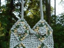 Granny Square Flowers Bag - PA-128b