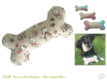 Clyde bone pillow, cushion 3 sizes Sewing Pattern