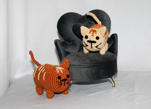 Tim and Tom the mini cats crochet pattern