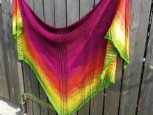 "Strickanleitung ""Summersplash"" 5-eckiges Tuch"