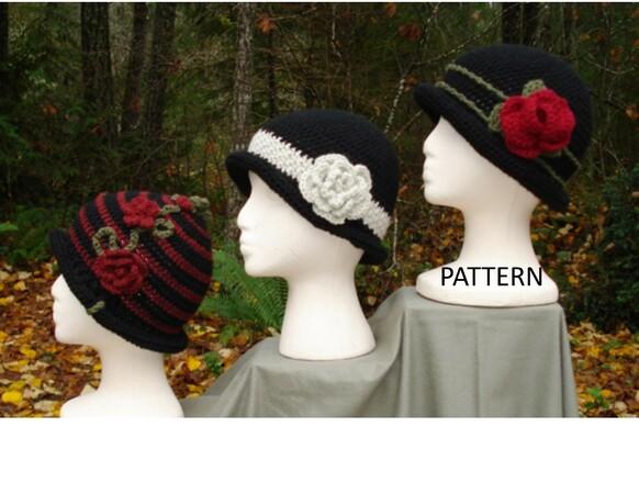 Rolled Brim Cloche Hat