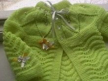 Knitting Salad Green Cardigan