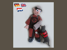 Dogtrainer Willis and his dog Bruce
