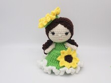 Sunflower Girl - Amigurumi PDF- English
