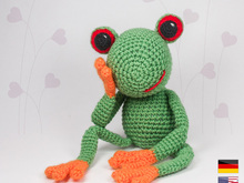Frog  'Fred' • LuckyTwins • Amigurumi crochet pattern