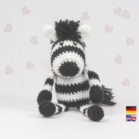 Amigurumi Zebra Crochet Free Patterns • DIY How To | 450x450