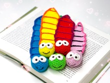 Bookworm Bookmarker - crochet pattern