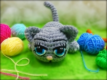 crochet pattern Kally, the sweet kitty PDF ternura amigurumi english deutsch- dutch