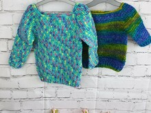 Pattern Baby crochet pullover size 6-9m, 12-18 m and 2y