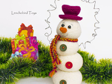 Amigurumi pattern for Christmas snowman 4 lumps