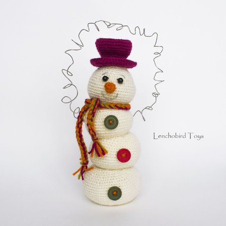 Cute Amigurumi Snowman Crochet Pattern - Snowman Christmas ... | 450x450