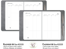 Weekly Planner Dogs platinum 1W2P TN B6Slim K22225