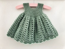 Crochet pattern baby dress Madeline