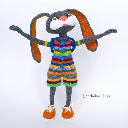 Amigurumi lapin tricot 3/3 / Miss Bunny amigurumi knit (english ... | 450x450