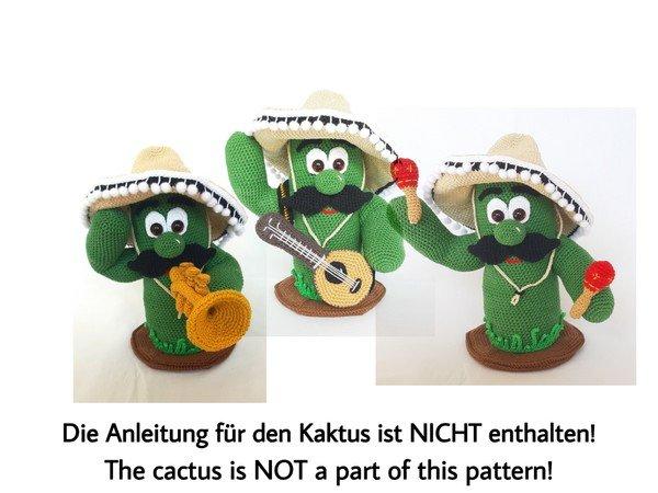 Guitar, Trumpet, Maracas - crochet pattern | 450x600