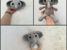 Elephant Elli + Music Box + Rattle - Crochet Pattern