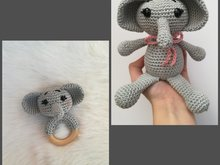 Elephant Elli + Rattle - Crochet Pattern