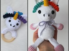 Unicorn Emily + Unicorn Rattle - Crochet Pattern