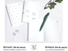 NotE-Book DIN A6 Dogs platinum A6N2115 dot-grid