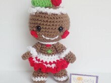 Gingerbread Gal - Croceht Amigurumi Pattern PDF- English